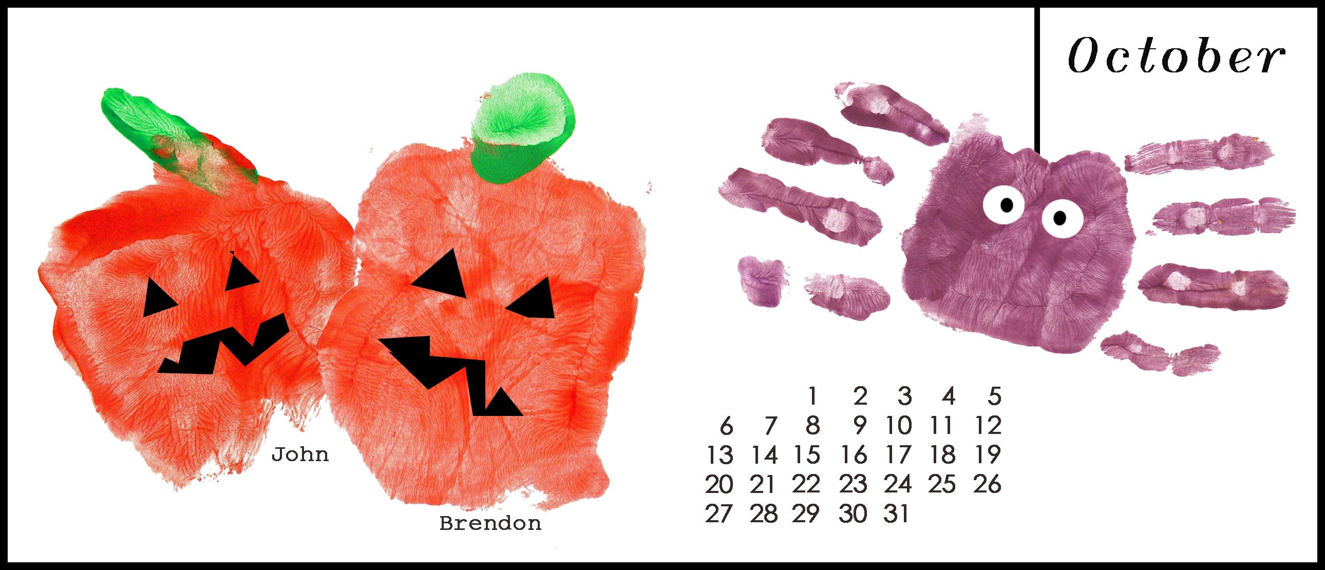 Handprint Calendar Series – October | archmom.com