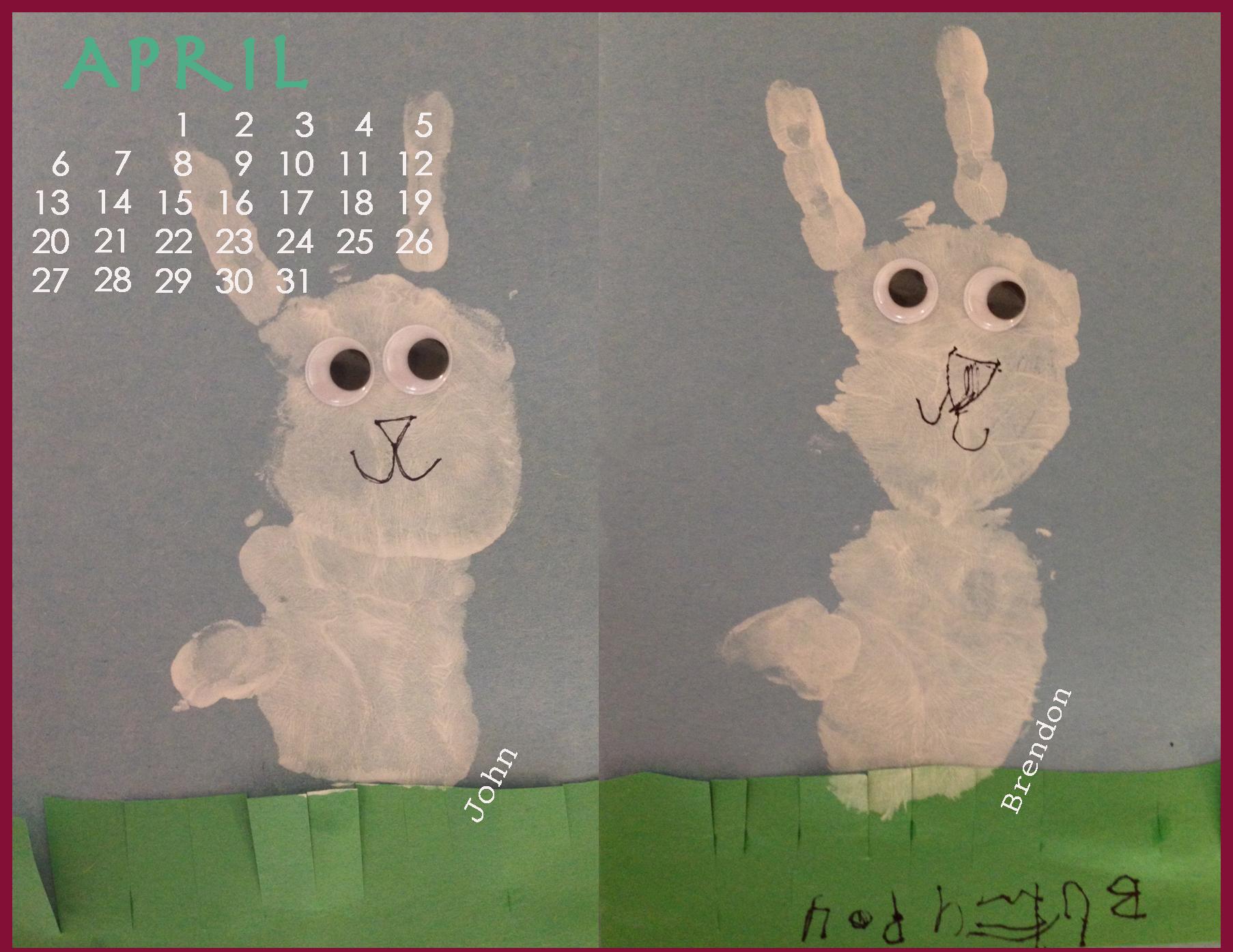 April Handprint Calendar : Handprint calendar series april archmom