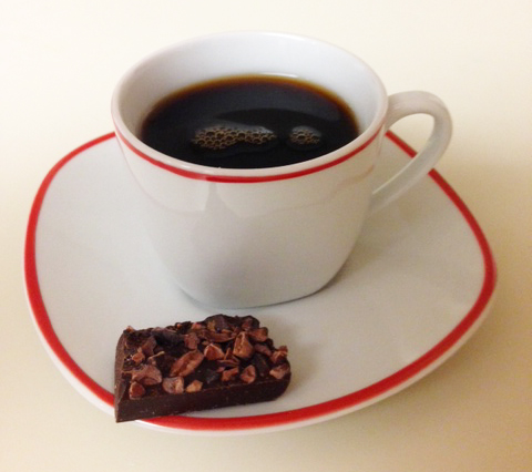 Cup with chocolate