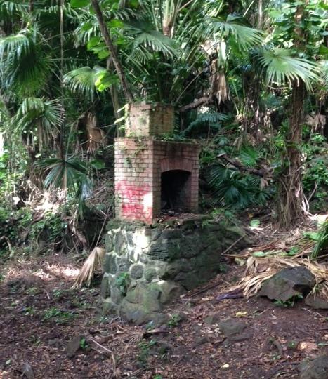 fireplace ruin