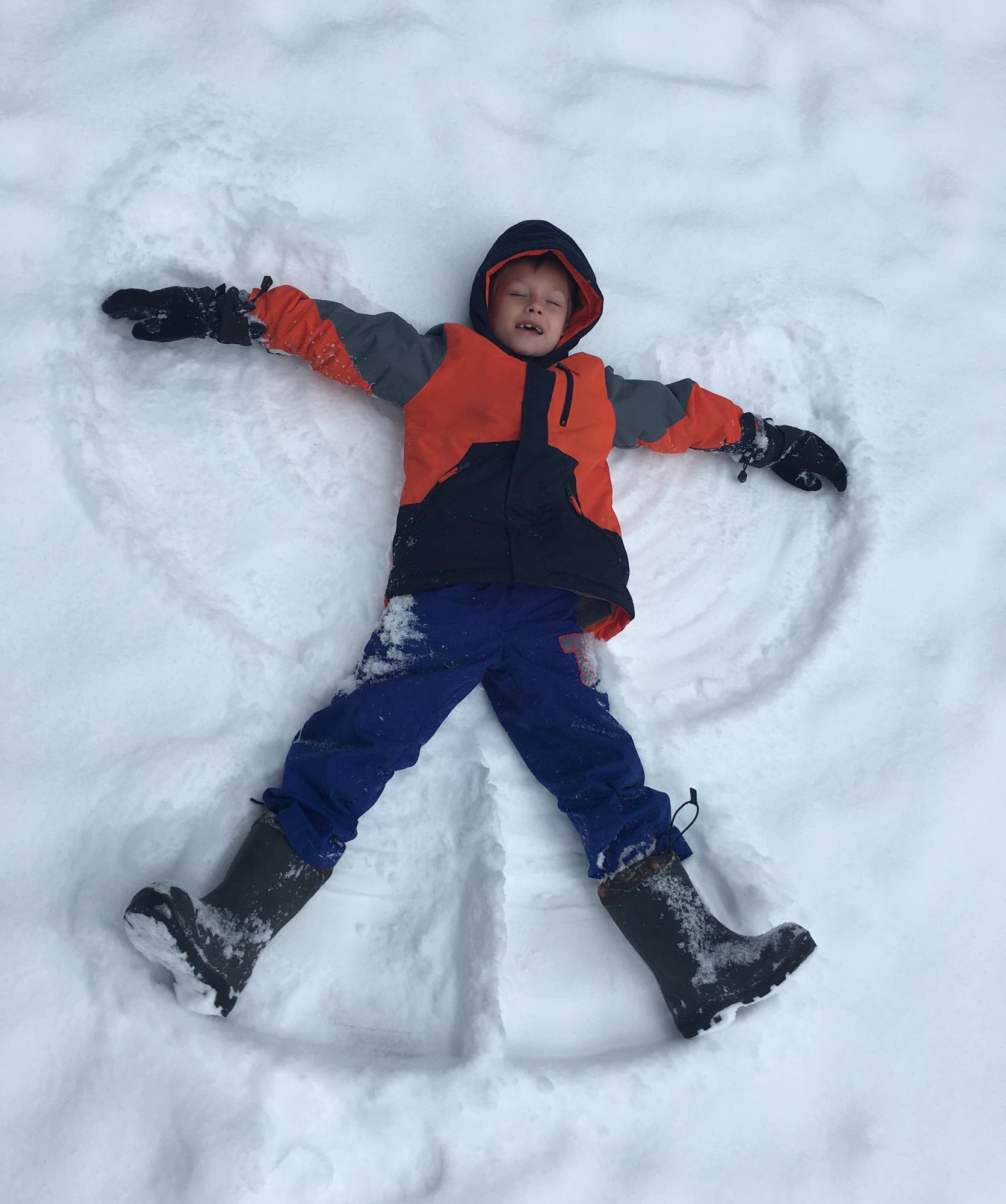 B snow angel